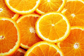 Background made of juicy oranges — Stock Photo