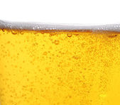 Beer with bubbles — Stock Photo