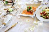 Wedding dinner — Stock Photo