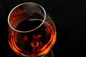 Brandy in glass — Stock Photo