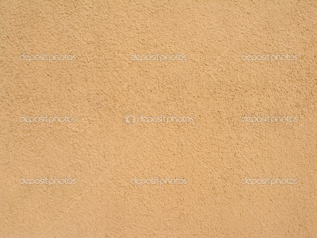 Abstract Sandy Brown Plastered Textured Wall As Background