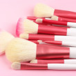 Make-up brushes close-up — Stock Photo #5384075