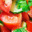 Fresh salad close-up — Stock Photo