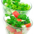 Assorted salads — Stock Photo