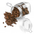 Coffee beans in jar — Stock Photo