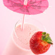 Strawberry protein cocktail — Stock Photo #5428251