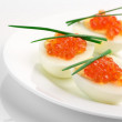 Постер, плакат: Appetizers with caviar