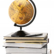 Globe and books — Stock Photo