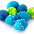 Royalty-Free Stock Photo: Blue Easter eggs
