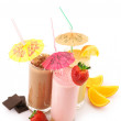 Various protein cocktails - Stock Photo