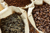 Assorted coffee and tea — Stock Photo