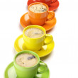 Coffee in colorful cups - Photo