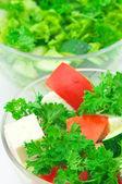 Assorted salads — Stock Photo