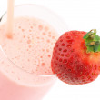 Stock Photo: Strawberry protein cocktail