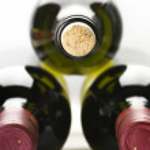 Винные бутылки — Стоковое фото