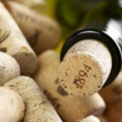 Wine bottle and corks — Foto de Stock
