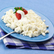 Cottage cheese with strawberries — Stock Photo #5744383