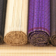 Rolled bamboo mats — Stock Photo
