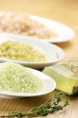 различных соль и мыло — Стоковое фото