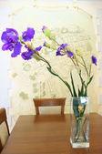 Bouquet of irises — Stock Photo
