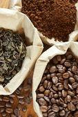 Assorted coffee and tea — Stock Photo