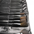 Stock Photo: Set of make-up brushes