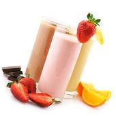 Různé proteinové koktejly — Stock fotografie