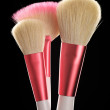 Make-up brushes close-up — Stockfoto