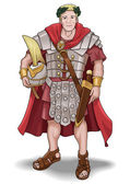 Roman Soldier — Stock Vector