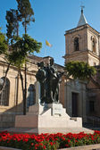 Sculpture group next to the St. John's Co Cathedral, Valletta, Malta — Stock Photo