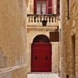 Narrow streets of Mdina Old City, Malta — Stock Photo