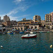 Panoramic view of Spinola bay, St Julian's, Malta — Stock Photo