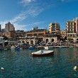Stock Photo: Panoramic view of Spinolbay, St Julian's, Malta