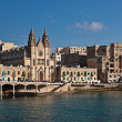 Stock Photo: Carmelite Parish Church in BallutBay, St Julian's, Malta