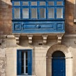 Traditional Maltese balcony, Valletta, Malta — Stock Photo