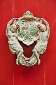 Dekorative bronze türgriff, mdina, malta — Stockfoto