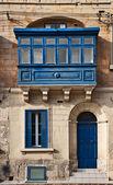 Traditional Maltese balcony, Valletta, Malta — Stock Photo