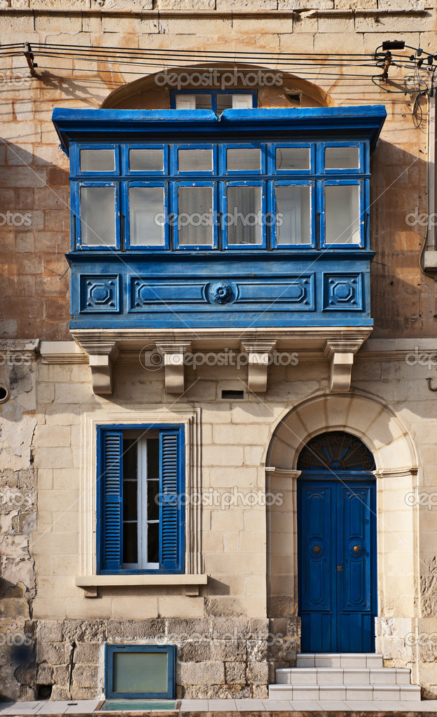 Traditional maltese balcony valletta malta stock photo for Traditional balconies
