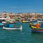Panoramic view of the fishing village Marsaxlokk, Malta — Stock Photo #5706873