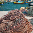 Fishing net in the fishing village Marsaxlokk, Malta — Stock Photo #5706915