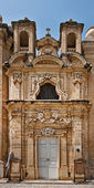 Small baroque church in Valletta, Malta — Stockfoto
