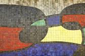 Mosaic Of Joan Miro, detail. Barcelona — Stock Photo