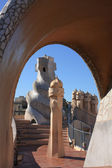 Barcelona And Gaudi: La Pedrera And Sagrada Familia — Stock Photo