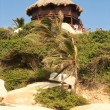 Hut On A Caribbean Beach. Tayrona National Park. Colombia. - 图库照片