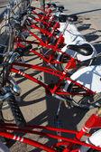 Biciclette pubbliche parcheggio, barcellona — Foto Stock
