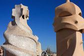 Barcelona And Gaudi: La Pedrera Or Casa Mila — Stock Photo