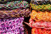 羊毛面料、 颜色 — 图库照片
