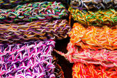 Wool fabrics, colors — Stock Photo