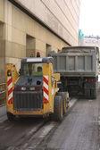 Miglioramento funziona sull'asfalto. — Foto Stock
