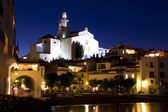 A small beach in Cadaques at night — Stock Photo